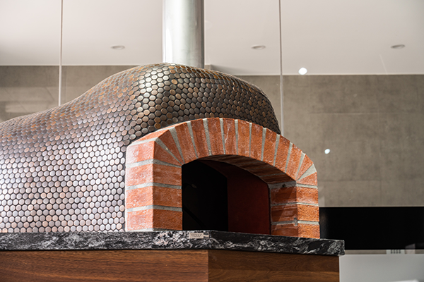 Pizza Oven with custom stone benchtop